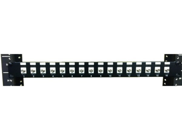 Coax Patch Panel F Type Feed Thru Patch Panel 16 Port