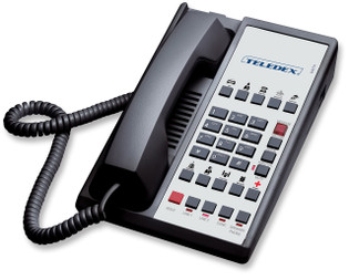 Teledex Diamond L2S-10E 2 Line Guest Room Telephone Black DIA673591