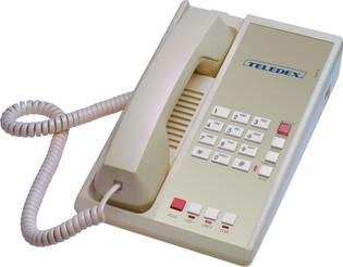 Teledex Diamond L2-E 2 Line Guest Room Telephone Ash DIA67059