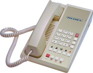 Teledex Diamond L2S-5E 2 Line Guest Room Telephone Ash DIA67149