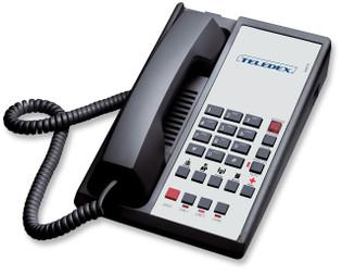 Teledex Diamond L2S-5E 2 Line Guest Room Telephone Black DIA671491