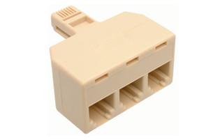 Three Way Modular Splitter 6P4C Adpater