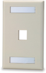 1 Port Single Gang Face Plate with Labeling Windows