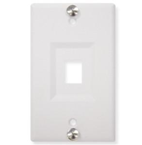 IP Telephone RJ45 Keystone Wall Mount Plate White