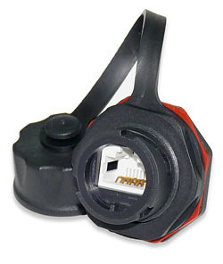 KJ458IG-C5E Category 5E Industrial Grade Data Jack with Protective Cap