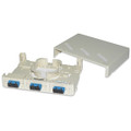 6 Port Mini Wall or Surface Mount Fiber Panel SC SM