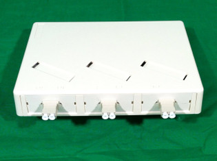 6 Port Mini Wall or Surface Mount Fiber Panel LC MM