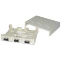 6 Port Mini Wall or Surface Mount Fiber Panel SC MM