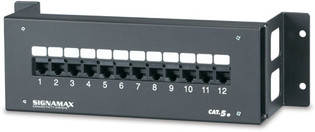 12 Port High Density Category 5E Wall Mount Patch Panel