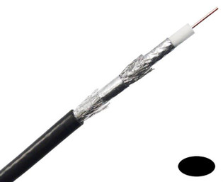 RG6 Quad Shield Coaxial Cable 3.0 Ghz Copper Clad Dialectric