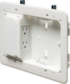 Low Profile TV Mounting Box for Shallow Wall Depths
