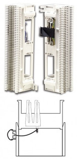 S66M2-3W: Siemon Pre-Wired M2 Series, 25 One female 25-pair connector