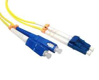 SC-LC Duplex Singlemode 9/125 Fiber Optic Patch Cable