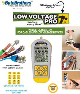 LVPRO1 Low Voltage Speaker Coax Data Comprehensive Testing Tool