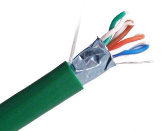 CAT5E 350MHz Cable, 4 Pair 24AWG STP Solid Shielded Cable, 1000' Pull Box