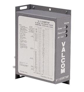 Valcom V1109RTHF 9 Zone Talkback Paging Controller