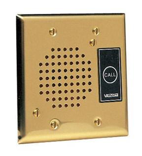 Valcom V1072A-Brass Talkback Doorplate Speaker Brass