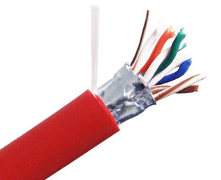 CAT5E 350MHz 4 Pair 24AWG Stranded Shielded Cable PVC CM 1000'