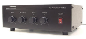 PBM30 30W Public Address Paging Amplifier with Microphone Inputs