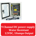 9 Channel CCTV High Power Outdoor Distribution Box 12VDC 10 Amp