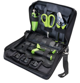 Fiber Optic Tool Kit with Strippers Crimpers Slitters and Cutters (PA906001)