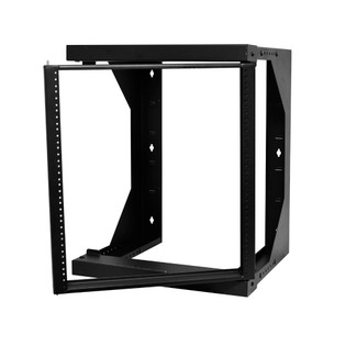 """Swing Out  Wall Mount Fixed Rack 12RU Adjustable Depth 18""""-26"""""""