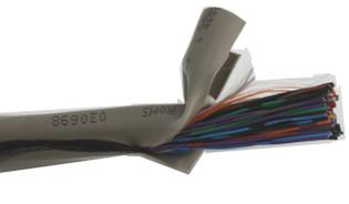 CAT3 UTP PVC Bulk Cable 24AWG Solid 50 Pair 1000' Reel - Grey