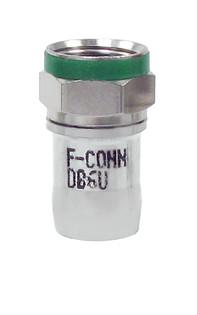 "DB6U RG6/6Q ""F"" Radial Compression Coaxial Connector"