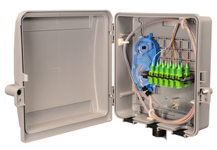 Outdoor Fiber Distribution Box with 12 SC MM and Splice Tray