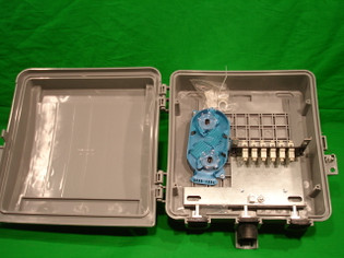 Outdoor Fiber Distribution Box with 6 SC MM and Splice Tray