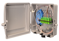 Outdoor Fiber Distribution Box with 12 SC SM UPC and Splice Tray