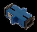 SC Fiber Optic Coupler Simplex UPC SM Ceramic Blue