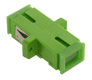 SC Fiber Optic Coupler Simplex APC SM Ceramic Green