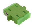 SC Fiber Optic Coupler Duplex APC SM Ceramic Green