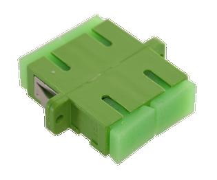 SC Fiber Optic Coupler Duplex APC SM Ceramic Green