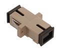 SC Fiber Optic Coupler Simplex PC MM Ceramic Beige