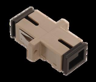 SC Fiber Optic Coupler Simplex PC MM Ceramic Beige