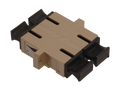 SC Fiber Optic Coupler Duplex PC MM Ceramic Beige