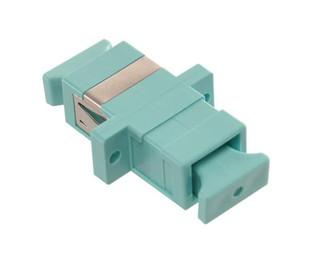 SC Fiber Optic Coupler Simplex 10 GIG MM Phosphor Bronce Aqua