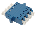 LC Fiber Optic Quad UPC SM Ceramic Blue