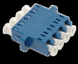 LC Fiber Optic Quad UPC SM Ceramic Blue