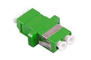 LC Fiber Optic Duplex APC SM Ceramic Green (SC Simplex footprint)