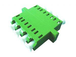 LC Fiber Optic  Quad APC SM Ceramic Green