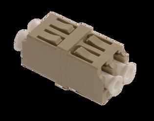LC Fiber Optic Duplex PC MM Phos Bronze  Beige (SC Simplex footprint)