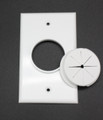 Single Gang Bulk Wire Plate with Grommet