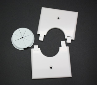 Single Gang Bulk Wire Split Plate with Grommet
