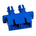 SC to ST Fiber Optic Coupler Duplex UPC MM Ceramic Blue