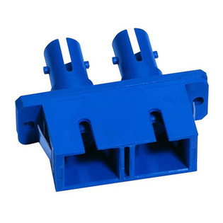 SC to ST Fiber Optic Coupler Duplex UPC MM Ceramic Blue