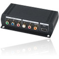 Component Video and Stereo/Digital Audio to HDMI Converter with loop out