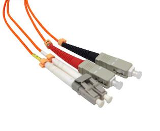 LC-SC Duplex Multi Mode 50/125 Fiber Optic Patch Cable